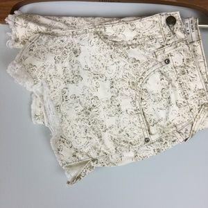 Free People Paisley Cut-Offs